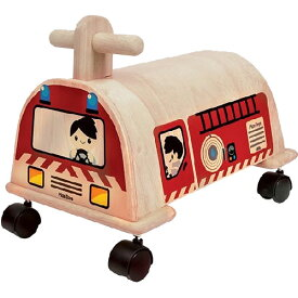 プラントイ 乗用消防車 乗用玩具 ベビー 木馬 乗り物 木のおもちゃ 木製 おもちゃ 足けり 子供用 出産祝い 1歳 2歳 3歳 誕生日プレゼント 誕生日 男の子 男 女の子 女   一歳 二歳 幼児 赤ちゃん 二人目 ギフト しょうぼうしゃ オモチャ 室内 足けり乗用玩具 足蹴り乗用玩具