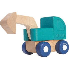プラントイ ミニショベルカー 車のおもちゃ 木のおもちゃ 誕生日 誕生日プレゼント 木製 子供 男の子 男 1歳 2歳 3歳 出産祝い | 乗り物 おもちゃ ギフト 一歳 ショベルカー 幼児 室内 働く車 オモチャ 車 玩具 くるま 木製玩具 プレゼント おしゃれ 子ども こども のりもの