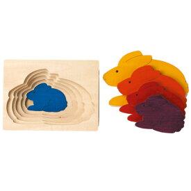 ジョージラックパズル ステップパズル・うさぎ 知育玩具 2歳 3歳 パズル 幼児 知育 木のおもちゃ 木製 子供 赤ちゃん 出産祝い 誕生日プレゼント 誕生日 男の子 男 女の子 女 玩具 ベビー おもちゃ 男児 キッズ