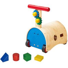送料無料 エドインター のっておして!すくすくウォーカー 乗用玩具 手押し車 ベビー 乗り物 木のおもちゃ 木製 おもちゃ 足けり 子供用 出産祝い 1歳 2歳 3歳 誕生日プレゼント 誕生日 男の子 男 女の子 女 クリスマス クリスマスプレゼント