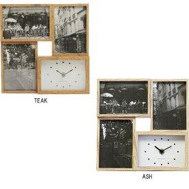 ビット フォー フォトフレーム 時計 スタンド 壁掛け 写真立て 3枚 木製 ナチュラル ベビー 赤ちゃん 子供 複数 おしゃれ 出産祝い お祝い 結婚祝い ギフト プレゼント
