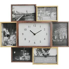 ビット セブン フォトフレーム 時計 スタンド 壁掛け 写真立て 7枚 木製 ナチュラル ベビー 赤ちゃん 子供 複数 おしゃれ 出産祝い お祝い 結婚祝い ギフト プレゼント