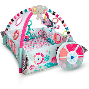 送料無料 Kids2 ピンク・5-in-1・ヨアウェイ・ボール・プレイジム 赤ちゃん ベビージム プレイジム プレイマット 誕生日プレゼント 誕生日 男の子 男 女の子 女 出産祝い 0歳 1歳 乳児 こども 子
