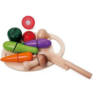クラシックワールド カッティング ベジタブル 2歳 3歳 4歳 5歳 誕生日プレゼント 女の子 女 木のおもちゃ 木製 子供 出産祝い ままごとセット 食材 包丁 幼児 知育玩具 おしゃれ プレゼント お