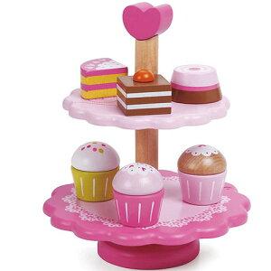 クラシックワールド カップケーキ スタンド 2歳 3歳 4歳 5歳 誕生日プレゼント 女の子 女 木のおもちゃ 木製 子供 出産祝い ままごとセット 食材 包丁 幼児 知育玩具 おしゃれ プレゼント おま