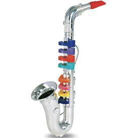BONTEMPI シルバーサックスフォン 8keys 42cm 知育玩具 楽器玩具 誕生日 誕生日プレゼント 3歳 4歳 5歳 音楽 男の子 男 女の子 女 子供 おもちゃ 幼児 おしゃれ 音の出るおもちゃ