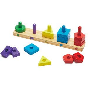 メリッサ&ダグ スタック&ソートボード 知育玩具 2歳 3歳 誕生日 誕生日プレゼント 木のおもちゃ 木製 知育 赤ちゃん ベビー 男の子 男 女の子 女 出産祝い 木製玩具 玩具 子供 キッズ ギ