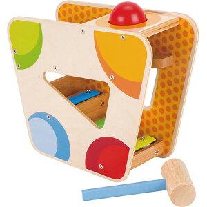 ゴルネスト&キーゼル ハンマーゲーム ウィズ シロフォントラック 木のおもちゃ 赤ちゃん 木製 出産祝い ベビー 誕生日プレゼント 男の子 男 女の子 女 1歳 2歳 知育玩具 ハンマー ボール