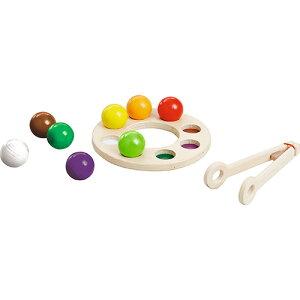 ハバエデュケーション レインボーサラダ 知育玩具 教育 木のおもちゃ 木製 知育 木製玩具 玩具 子供 キッズ 幼児 保育園 幼稚園 学習