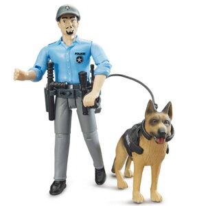 ブルーダー 白人警察官&警察犬 車のおもちゃ 砂場 ダンプカー トラック 子供 ドイツ 誕生日 誕生日プレゼント 男の子 男 3歳 4歳 5歳 玩具 オモチャ 幼児 キッズ バースデー ダンプ くるまの