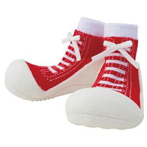 ベビーフィート スニーカーズ レッド ソックス 赤ちゃん 滑らない ゴム 靴 男の子 女の子 出産祝い 0歳 1歳 ギフト 誕生日プレゼント 誕生日 おしゃれ かわいい ベビーソックス 靴下 くつ