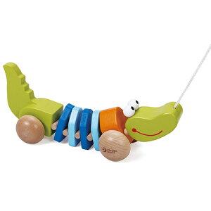 クラシックワールド プル クロコダイル 木のおもちゃ プルトイ プルトーイ 木製 子供 1歳 2歳 3歳 誕生日プレゼント 誕生日 男の子 男 女の子 女 赤ちゃん ベビー 出産祝い 引き車 ベビー玩具