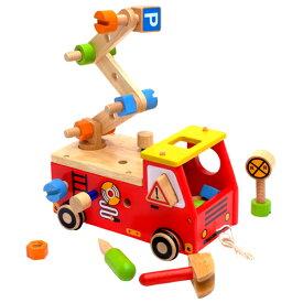 アイムトイ アクティブ消防車 1歳 2歳 3歳 幼児 おもちゃ ベビー 大工さん 女の子 木のおもちゃ 木製 男の子 知育玩具 誕生日プレゼント 車 出産祝い 男 女 パズル| 赤ちゃん 一歳 子供 誕生日 プルトイ 引き車 型はめパズル クリスマス プレゼント 車のおもちゃ 室内 乗り物