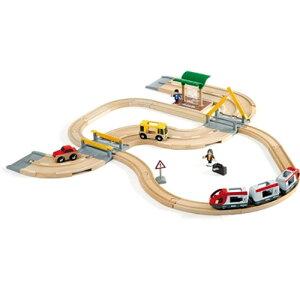 送料無料 BRIO ブリオ 木製 レールセット レール&ロード トラベルセット 木のおもちゃ 電車 子供 誕生日プレゼント 男の子 出産祝い 3歳 4歳 5歳 | 幼児 トレイン 列車 玩具 オモチャ キッズ 北
