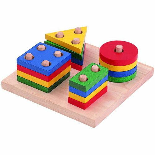 知育玩具 2歳 3歳 図形 PLANTOYS プラントイ ジオメトリックソーティングボード 木のおもちゃ 木製 知育 子供 誕生日プレゼント 誕生日 男の子 男 女の子 女