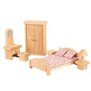誕生日 3歳 4歳 5歳 誕生日プレゼント 女の子 木のおもちゃ ドールハウス 木製 キット 家具 PLANTOYS プラントイ クラシック ベッドルーム 子供 出産祝い バースデー|おしゃれ オモチャ 女子 ク