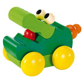 車のおもちゃ セレクタ社 ブーブークロコ 木のおもちゃ 赤ちゃん 木製 出産祝い ベビー ドイツ 誕生日プレゼント 誕生日 男の子 男 女の子 女 1歳 2歳 |ベビー玩具 TOY バースデー 子供 二歳 一歳 幼児 のりもの 乗り物 くるま プッシュトイ プッシュ トイ おもちゃ