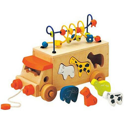 車のおもちゃ 積み木 ブロック 形合わせ エドインター アニマルビーズバス 木のおもちゃ 型はめ 赤ちゃん ベビー 誕生日プレゼント 誕生日 男の子 男 女の子 女 3歳 4歳 つみき ギフト 積木 子供 キッズ 子ども オモチャ 木製 車
