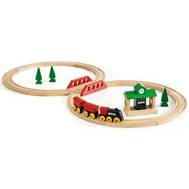 送料無料 BRIO ブリオ 木製 レールセット クラシックレール8の字セット 木のおもちゃ 電車 子供 誕生日プレゼント 誕生日 男の子 男 出産祝い 3歳 4歳 5歳 |列車 北欧 おもちゃ 三歳 四歳 五歳 乗り物 安心 幼児 玩具 オモチャ トレイン 木製レール レール