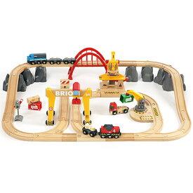 送料無料 BRIO ブリオ 木製 レールセット カーゴレールデラックスセット 木のおもちゃ 電車 子供 誕生日プレゼント 誕生日 男の子 男 出産祝い 3歳 4歳 5歳 |列車 北欧 おもちゃ 三歳 四歳 五歳 乗り物 安心 幼児 玩具 オモチャ トレイン 木製レール レール
