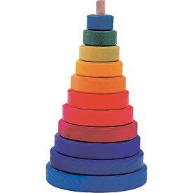 知育玩具 1歳 2歳 3歳 グリム社 円錐積み木 大 木のおもちゃ 赤ちゃん 木製 出産祝い ベビー ドイツ 誕生日プレゼント 誕生日 男の子 男 女の子 女 | おもちゃ 幼児 子供 一歳 ギフト こども 玩具 キッズ 二歳 積木 子ども 赤ちゃんオモチャ つみき 木製玩具 赤ちゃん玩具