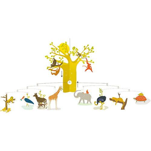 出産祝い 誕生日 誕生日プレゼント 0歳 1歳 男の子 男 女の子 女 ベッドメリー モビール 木のおもちゃ 木製 DJECO アフリカンサバンナ 赤ちゃん おもちゃ ベビー|ジェコ こども 子ども 子供 オルゴールメリー オモチャ 一歳 赤ちゃんオモチャ ベットメリー ベビー玩具 メリー
