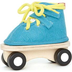 HAPE レーシングスケート ブルー 知育玩具 ひも通し 紐通し 3歳 4歳 5歳 木のおもちゃ 木製 知育 子供 誕生日プレゼント 誕生日 男の子 男 女の子 女 (ひもとおし 知育玩具3才 おもちゃ 子ども こども ギフト 子供用 玩具) | プレゼント 出産祝い かわいい 幼児 紐 キッズ 木
