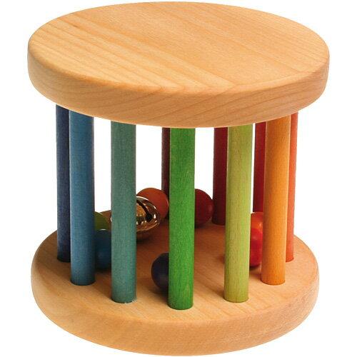 グリム社 レインボーカラーロール ラトル がらがら おもちゃ 赤ちゃん 木のおもちゃ 子供 0歳 1歳 2歳 誕生日 プレゼント 男の子 男 女の子 女 出産祝い オモチャ 0才 0さい こども ベビー ガラガラ | 幼児 誕生日プレゼント 木製 音の出るおもちゃ かわいい 玩具 乳児