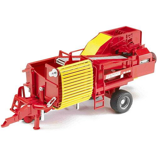 車のおもちゃ 砂場 おもちゃ ダンプカー ブルーダー社 プロシリーズ Grimme ポテトディガー(ポテト80個付き) 子供 ドイツ 誕生日プレゼント 誕生日 男の子 男 女の子 女 3歳 4歳 5歳