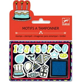 DJECO スタンプ バースデイ プチギフト ギフト 誕生日 雑貨 文具 かわいい 文房具 おしゃれ 誕生日プレゼント 女の子 子供 幼児