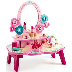 DJECO フローラ ドレッシングテーブル おままごと おもちゃ ままごと ままごとセット 女の子 4歳 5歳 子供 木のおもちゃ 木製 誕生日プレゼント 幼児 お化粧 おままごとセット プレゼント こど