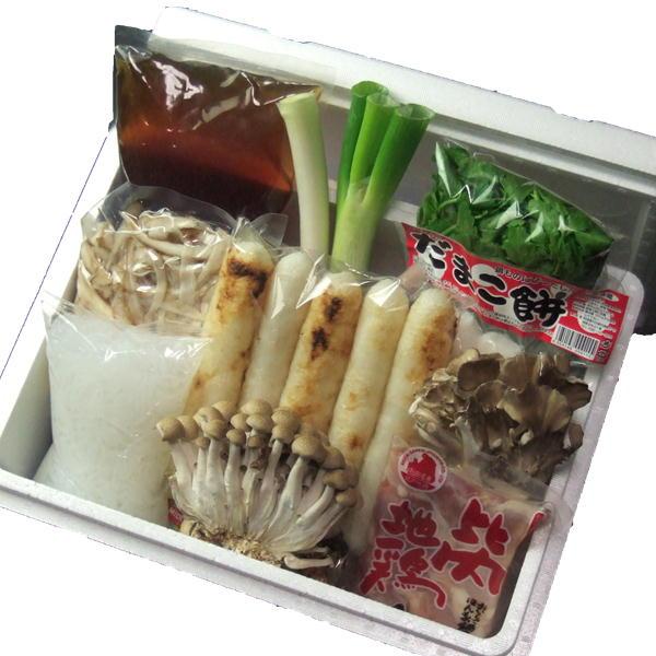 秋田 ご当地 お取り寄せ きりたんぽ鍋(2-3人前)【Aセット】 比内地鶏肉 レシピ付き