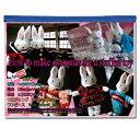 型紙セット ストラップサイズ ウサギのボディと Aラインワンピース/背広/ウエディングドレス/学生服/セーラー服/着物/…