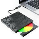 送料無料【2021最新型】外付け DVDドライブ 外付け 進化バージョン USB3.0 DVDドライブ 外付け CD/DVD ドライブ ポー…
