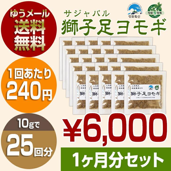 よもぎ蒸し セット 韓国サジャバル農家直送 獅子足ヨモギ 10g×25袋 よもぎ蒸し用座浴剤 セット