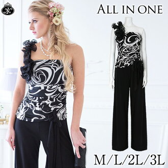 It is the four season for 50 generations for 40 generations for 30 generations for pantdress big size all-in-one wedding ceremony party dress gaucho pants wide underwear salopette relaxed prolonged material dance yoga black black S M L 2L 3L 4L wedding w