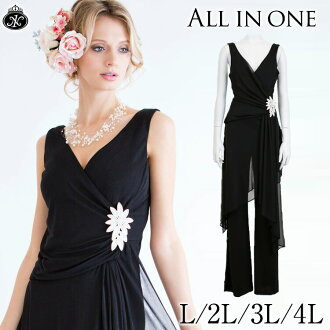 The concert all-in-one pantdress big size wide pantdress party dress party dress dress black formal black accessories wedding ceremony trouser suit piano presentation stage concert apparel four season