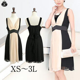 Outstanding 着痩せ effect in reviews ♪ classy スマートレディー party dress ◆ large size support-