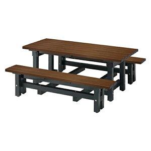 リサイクルデュオ N #80 246-0160 施設用 屋外用 テーブル+ベンチ