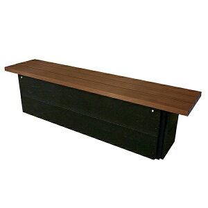 キャビネットベンチ CB4N-LC・背無し 246-0020 施設用 屋外用 収納庫付き