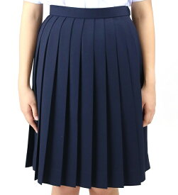 【送料無料】スカート ウール50% ポリエステル50% W60-W90 紺 | 中学生 高校生 スカート ネイビー 大きいサイズ 小さいサイズ