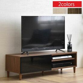 ローボード テレビ 台 AVボード 約 幅118 奥行40cm 高さ35cm アイボリー/ブラウン TVB018109