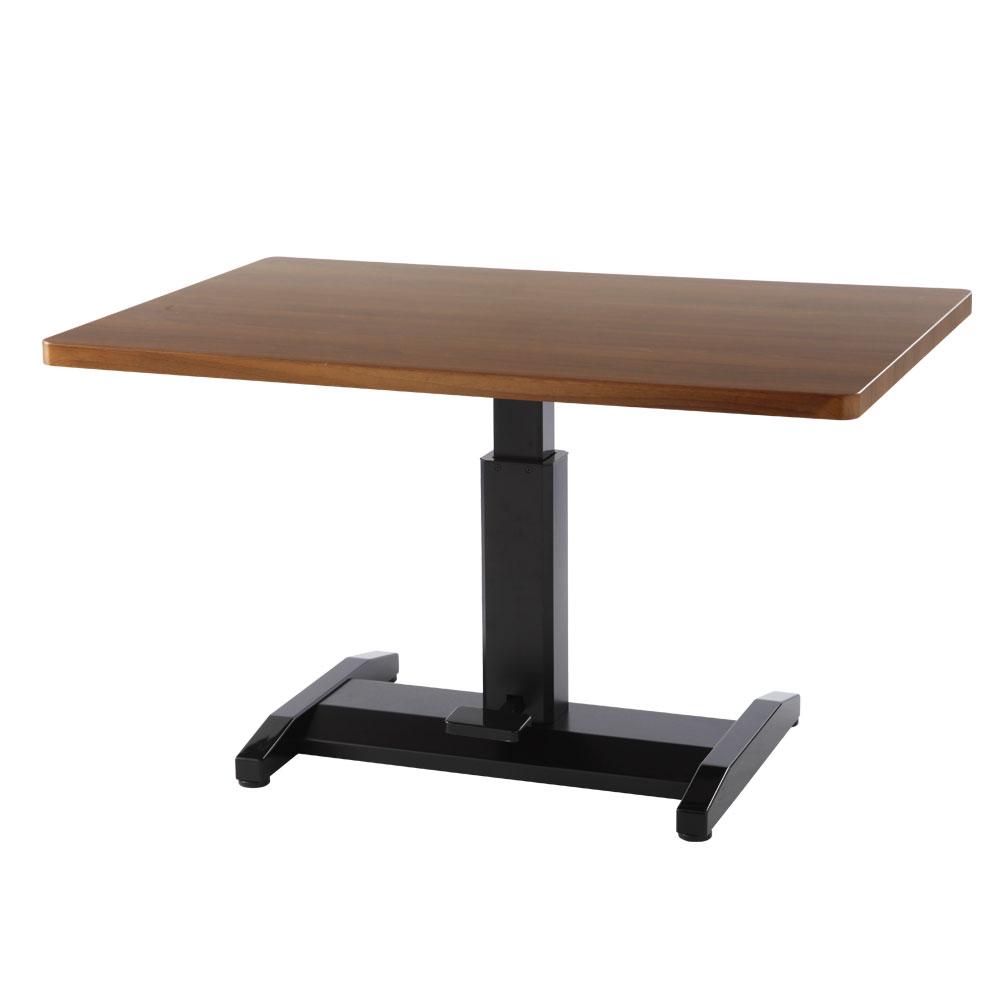 \クーポンで1,000円引き/ カフェテーブル センターテーブル 机 つくえ テーブル 昇降式テーブル 鏡面テーブル ダイニングテーブル リビングテーブル ウォールナット ナチュラル ホワイト ブラック 白 黒 1本脚 一本脚 木製 ハイ ガス圧 昇降 おしゃれ 北欧 幅80 120