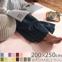 ラグマット 洗える ウォッシャブル 洗濯可能 丸洗い ラグ カーペット 200×250 滑り止め 長方形 ウレタンラグ ラグカ…