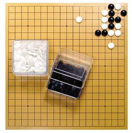 【楽天市場ランキング2位獲得】クリア簡易囲碁セット(透明碁笥付きゴム盤セット)