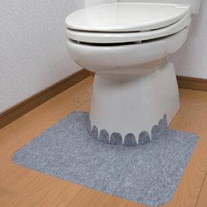 【サンコー】床汚れ防止マット(5枚組)置くだけ 吸着 尿 高齢者 お年寄り 介護 ポータブルトイレ 使い捨て