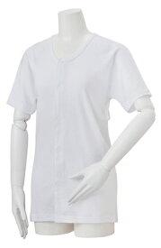 【竹虎】ソフラ肌着ライト男女兼用 半袖 S患者 肌ざわり 着脱簡単 快適 綿 抗菌