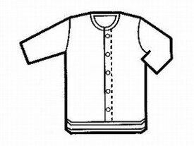 【グンゼ】紳士7分袖クリップシャツ M(HW6118)前開き 肌着 下着 男性 お年寄り 高齢者