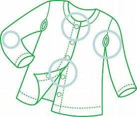 【川本産業】ワンタッチ肌着8分袖(婦人用)L女性/シャツ/面ファスナー/前開き/お年寄り/高齢者