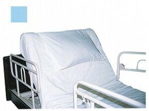 【ウェルファン】楽ちんカバー ライトブルー枕 シーツ 固定 ベッド 介護 お年寄り 高齢者
